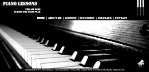 The Piano Den website