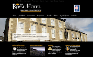 Royal Hotel Hayfield website